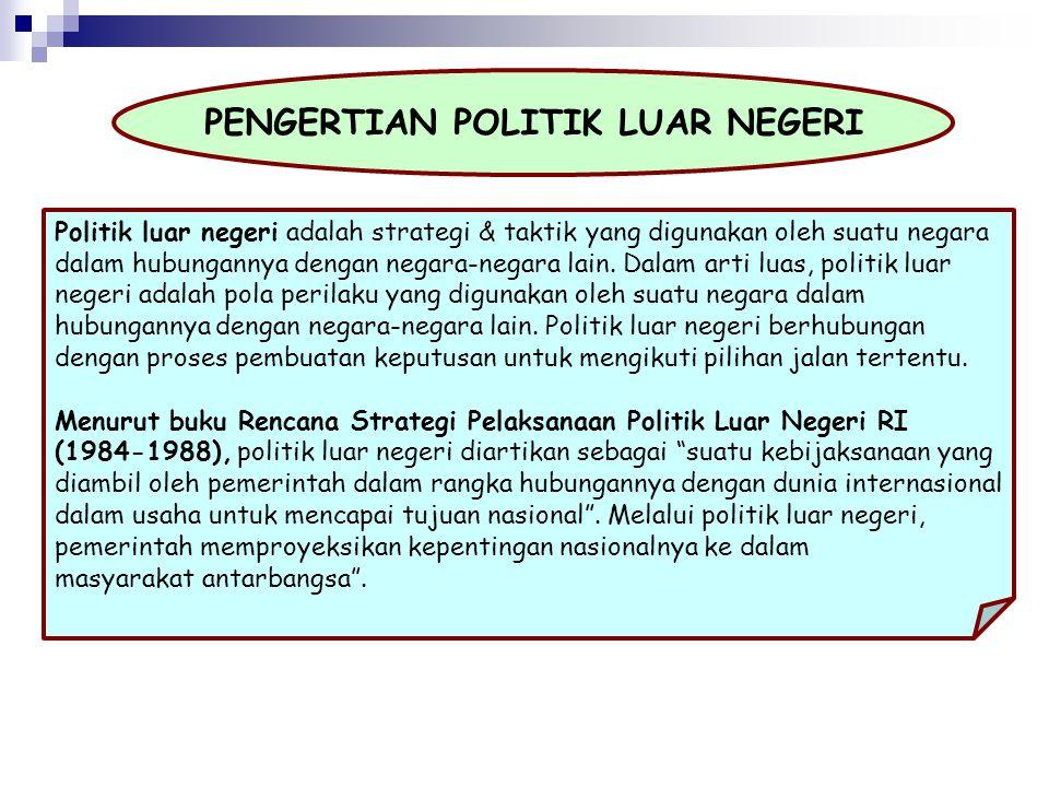 PENGERTIAN POLITIK LUAR NEGERI