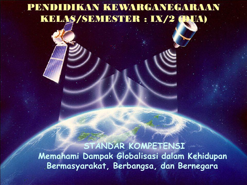PENDIDIKAN KEWARGANEGARAAN KELAS/SEMESTER : IX/2 (DUA)