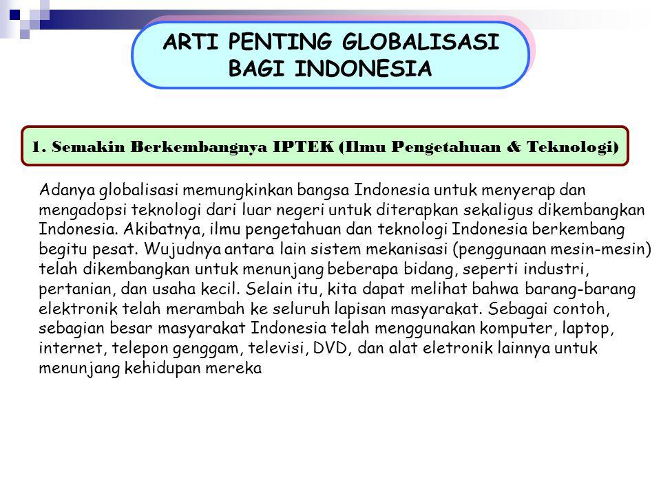 ARTI PENTING GLOBALISASI