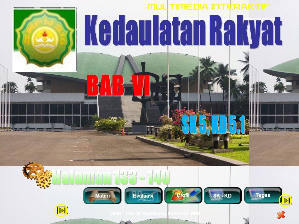 Kedaulatan Rakyat BAB VI SK 5, KD 5.1 Halaman 133 - 140