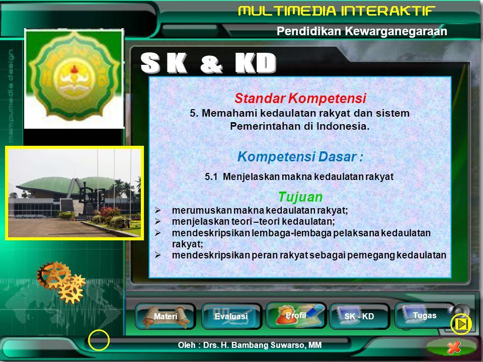 S K & KD Standar Kompetensi Kompetensi Dasar : Tujuan