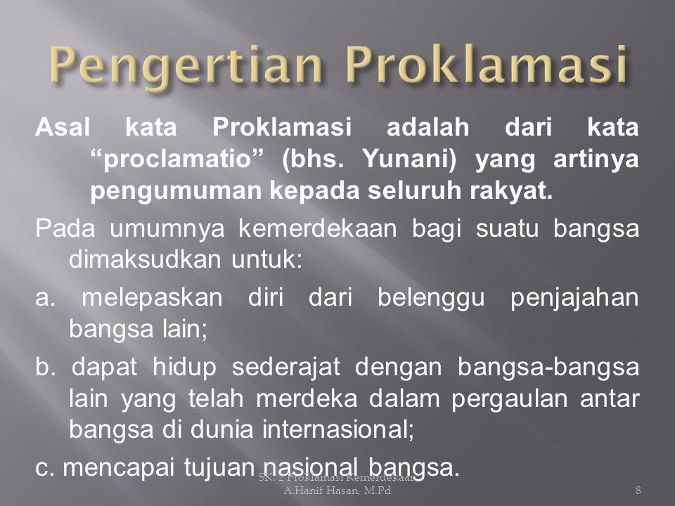 Pengertian Proklamasi