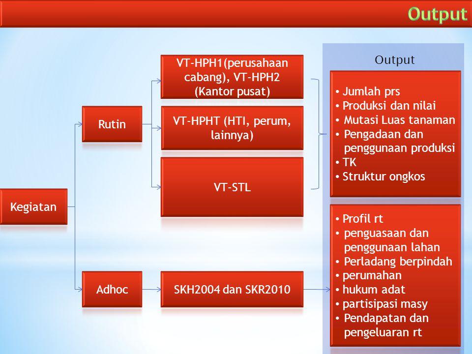 Output Output VT-HPH1(perusahaan cabang), VT-HPH2 (Kantor pusat)