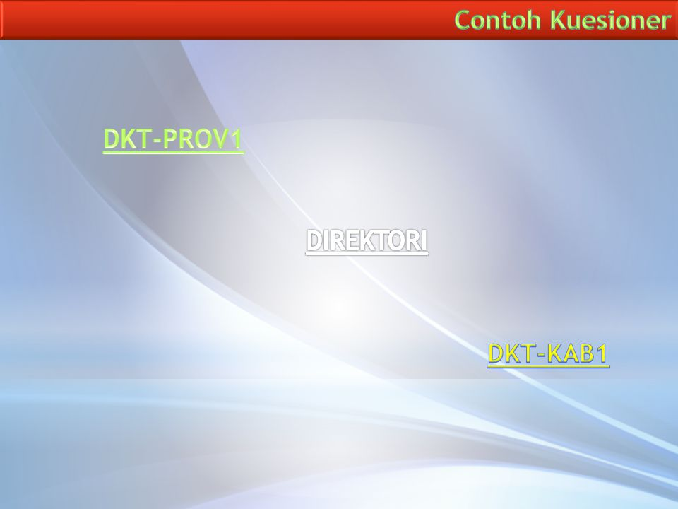Contoh Kuesioner DKT-PROV1 DIREKTORI DKT-KAB1