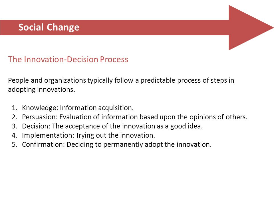 Social Change The Innovation-Decision Process