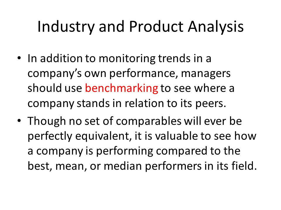 Industry and Product Analysis