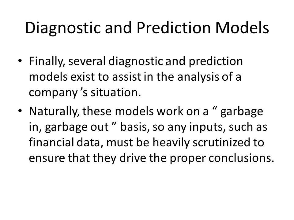 Diagnostic and Prediction Models