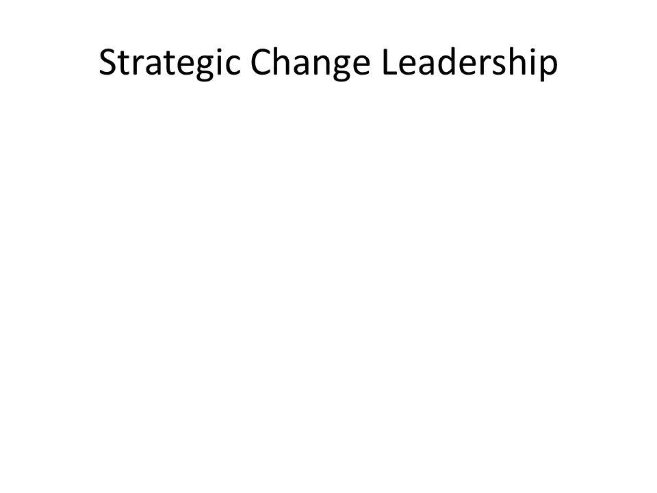 Strategic Change Leadership