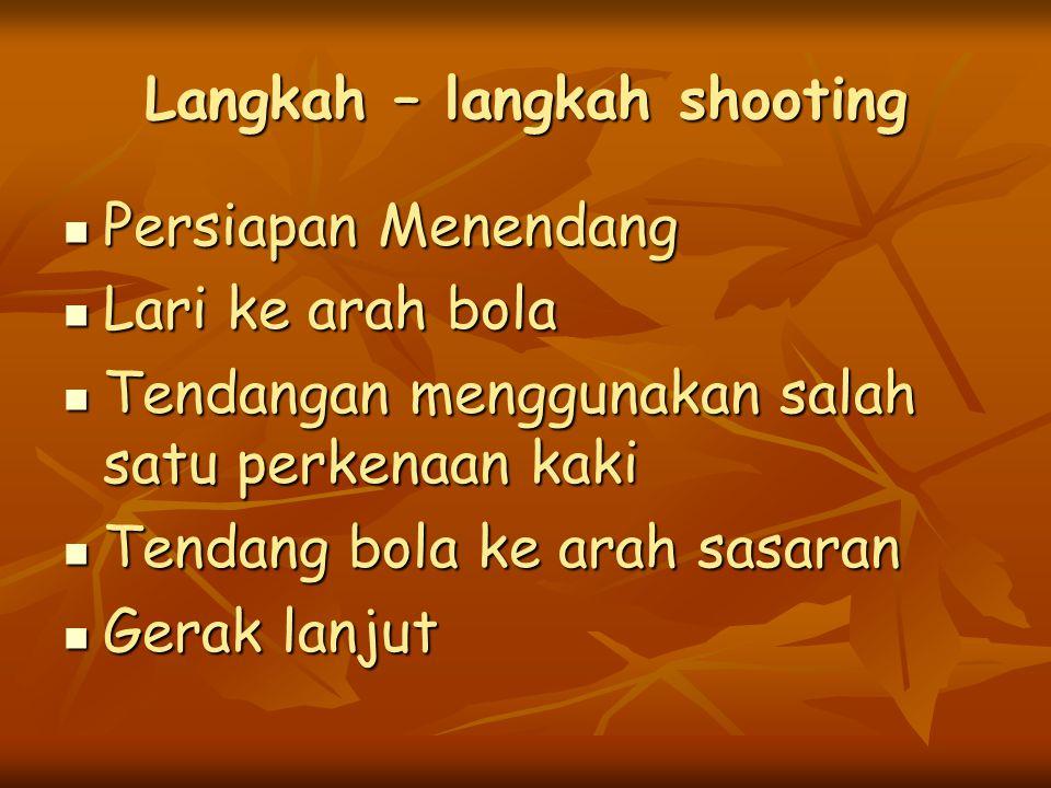 Langkah – langkah shooting