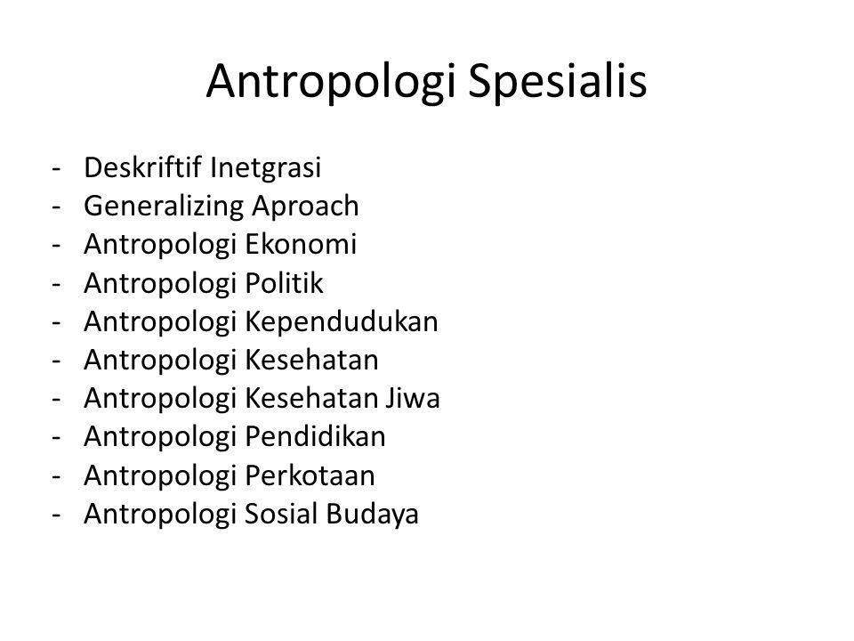 Antropologi Spesialis