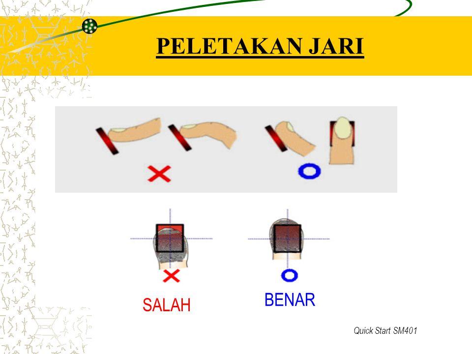 PELETAKAN JARI BENAR SALAH Quick Start SM401