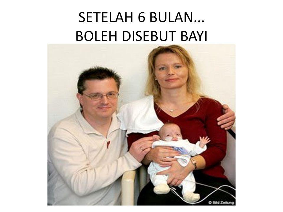 SETELAH 6 BULAN... BOLEH DISEBUT BAYI