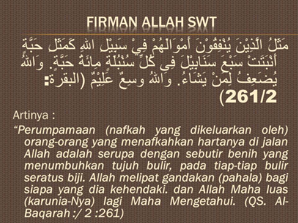 FIRMAN Allah SWt