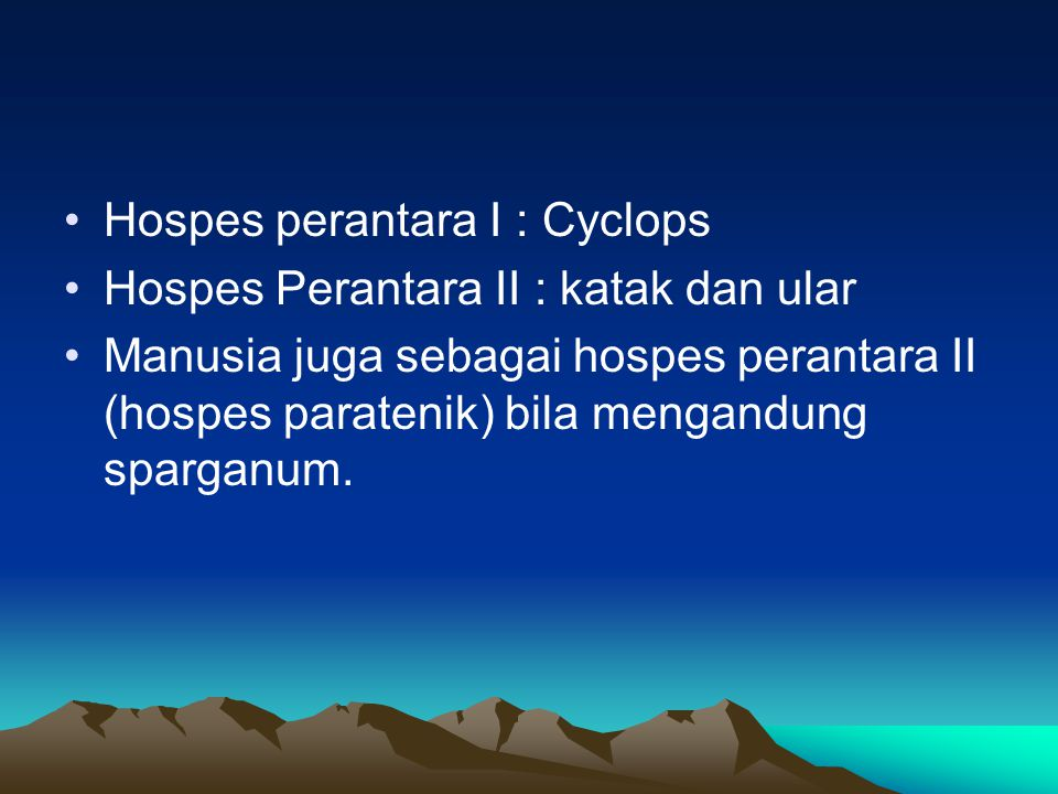 Hospes perantara I : Cyclops
