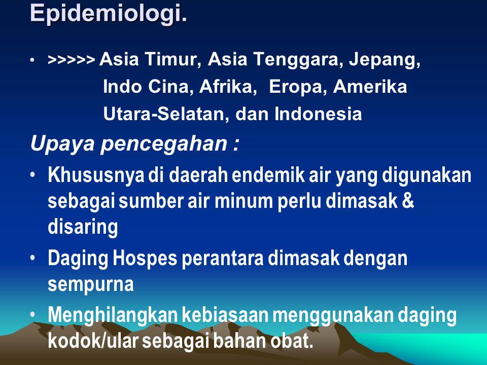 Epidemiologi. Upaya pencegahan :
