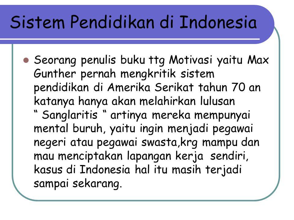 Sistem Pendidikan di Indonesia