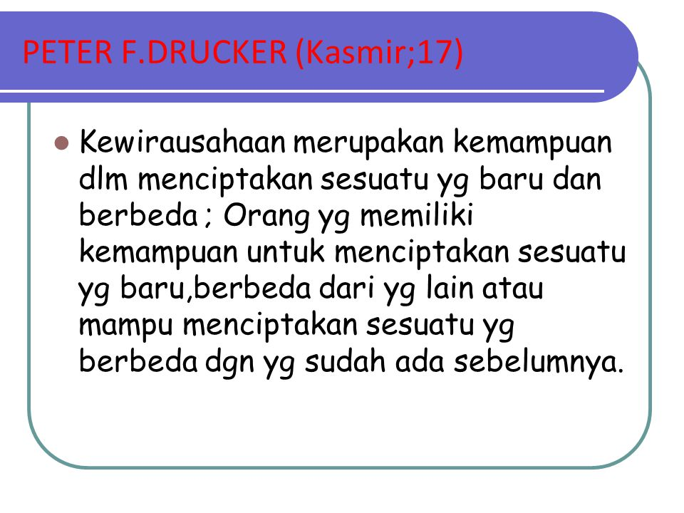 PETER F.DRUCKER (Kasmir;17)