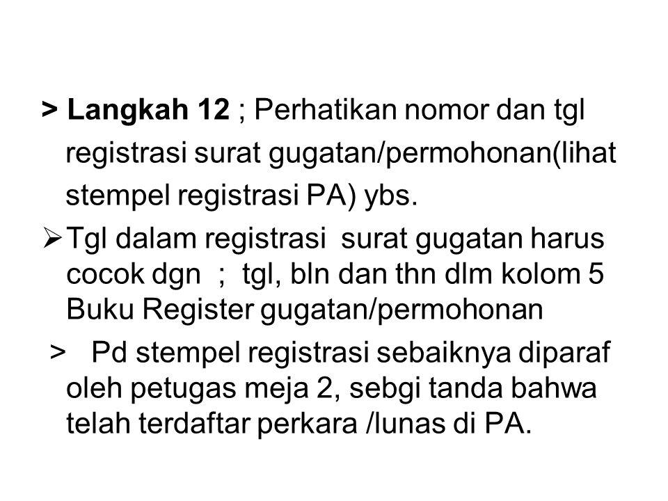 > Langkah 12 ; Perhatikan nomor dan tgl