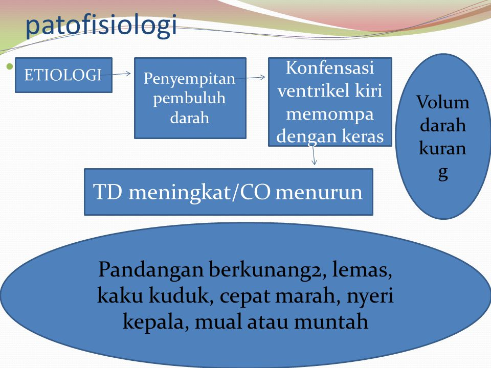 patofisiologi TD meningkat/CO menurun