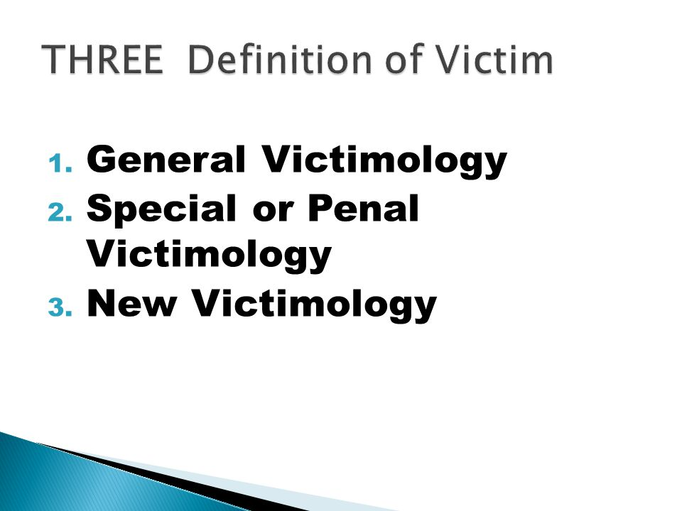 THREE Definition of Victim