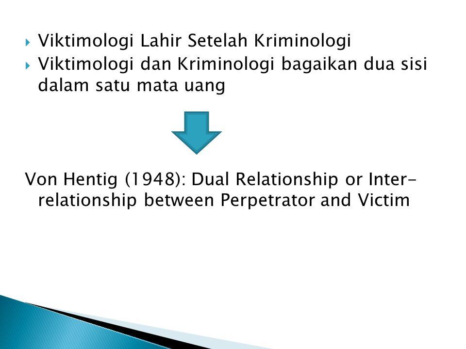 Viktimologi Lahir Setelah Kriminologi