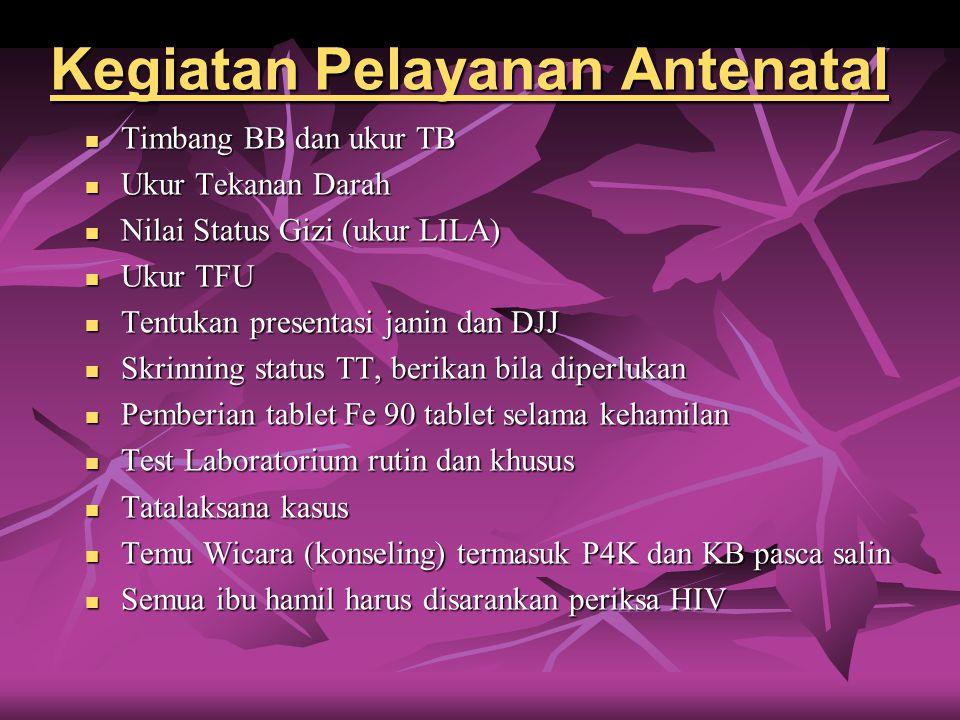 Kegiatan Pelayanan Antenatal