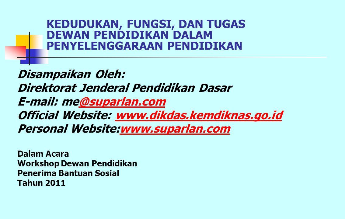 Direktorat Jenderal Pendidikan Dasar E-mail: me@suparlan.com