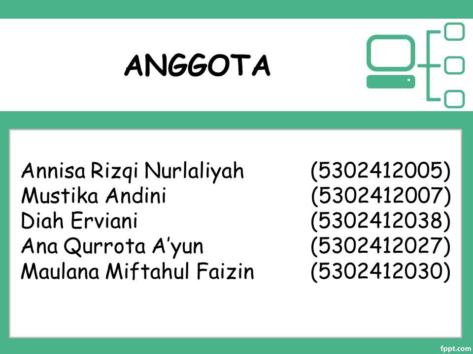 ANGGOTA Annisa Rizqi Nurlaliyah (5302412005)
