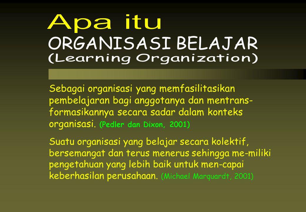 Apa itu ORGANISASI BELAJAR. (Learning Organization)