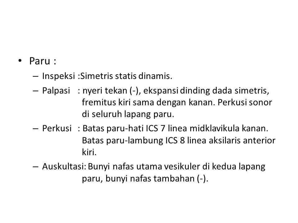 Paru : Inspeksi :Simetris statis dinamis.