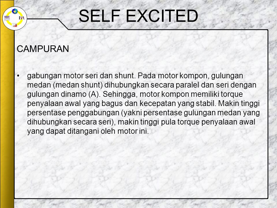 SELF EXCITED CAMPURAN.