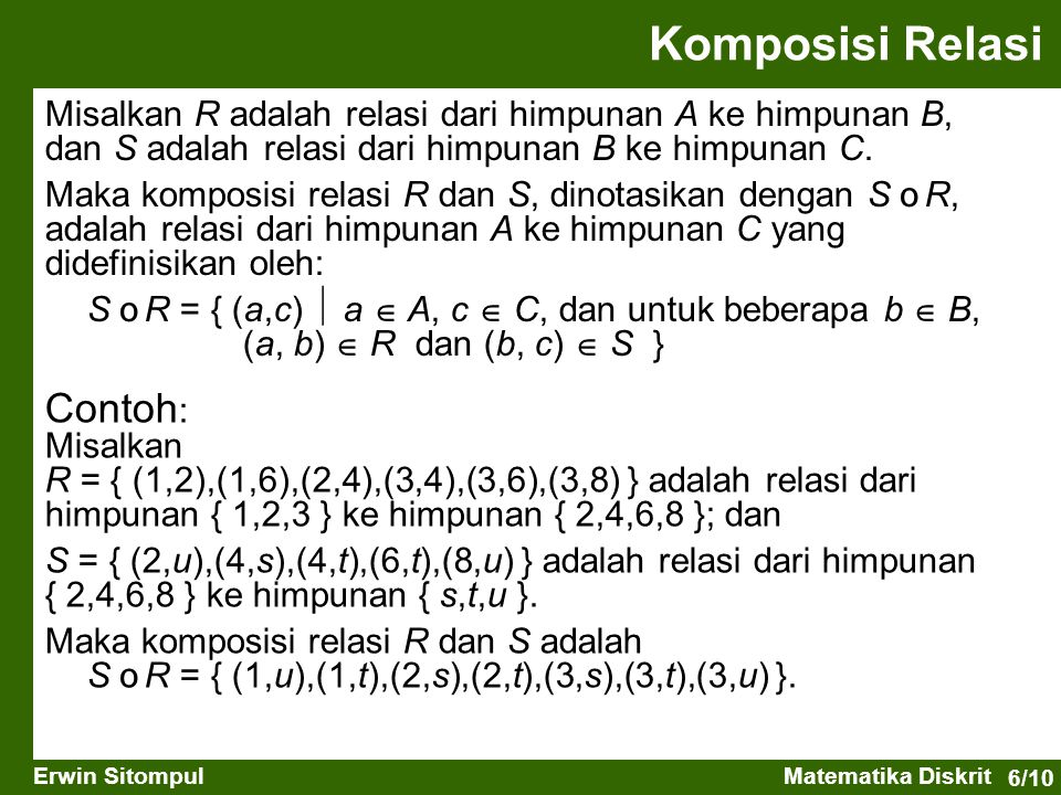Komposisi Relasi Contoh: