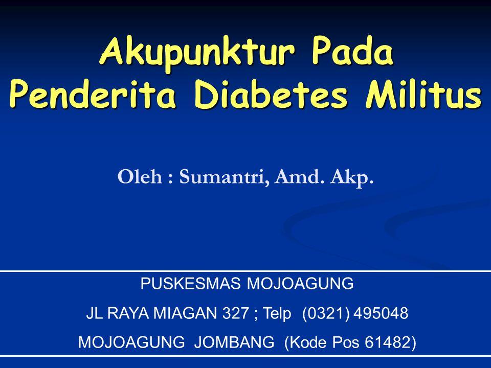 Akupunktur Pada Penderita Diabetes Militus
