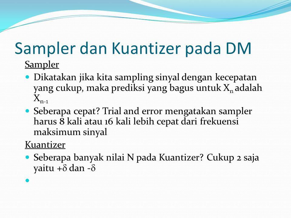 Sampler dan Kuantizer pada DM
