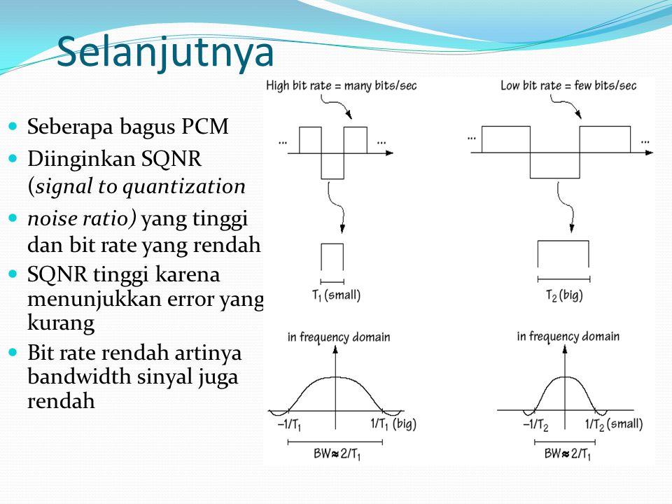 Selanjutnya Seberapa bagus PCM Diinginkan SQNR (signal to quantization
