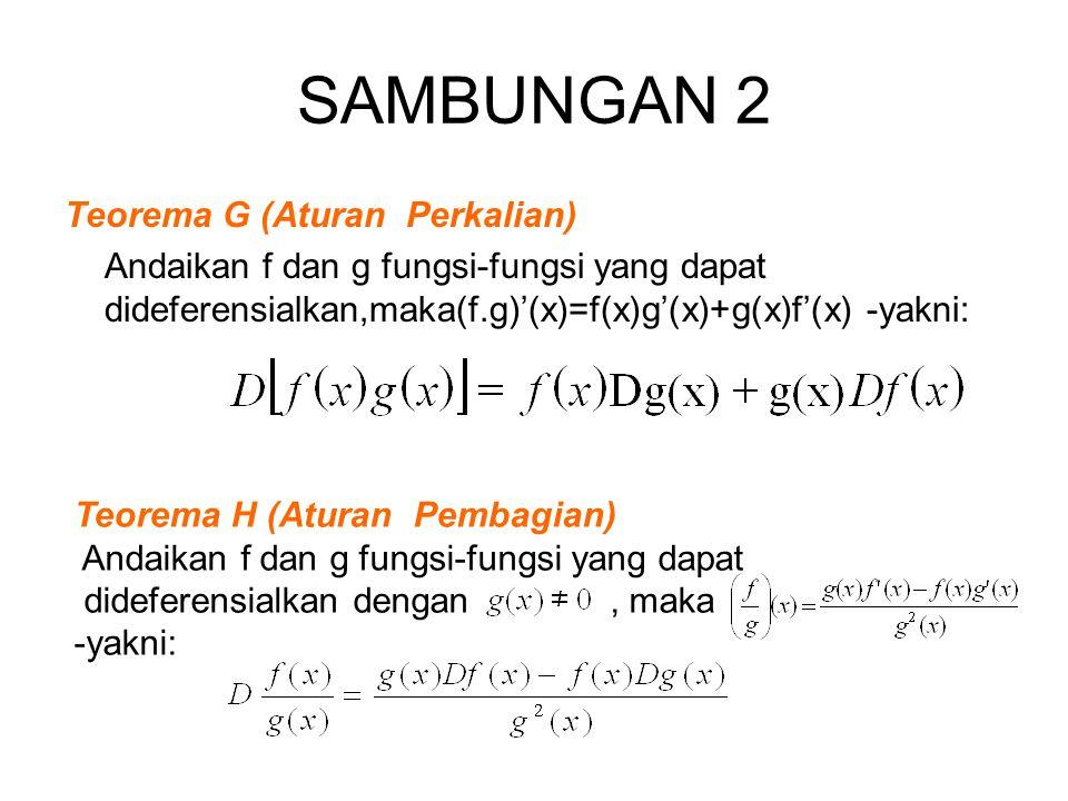 SAMBUNGAN 2 Teorema G (Aturan Perkalian)