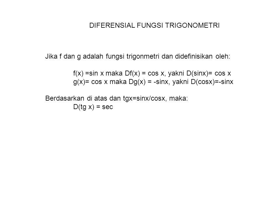 DIFERENSIAL FUNGSI TRIGONOMETRI