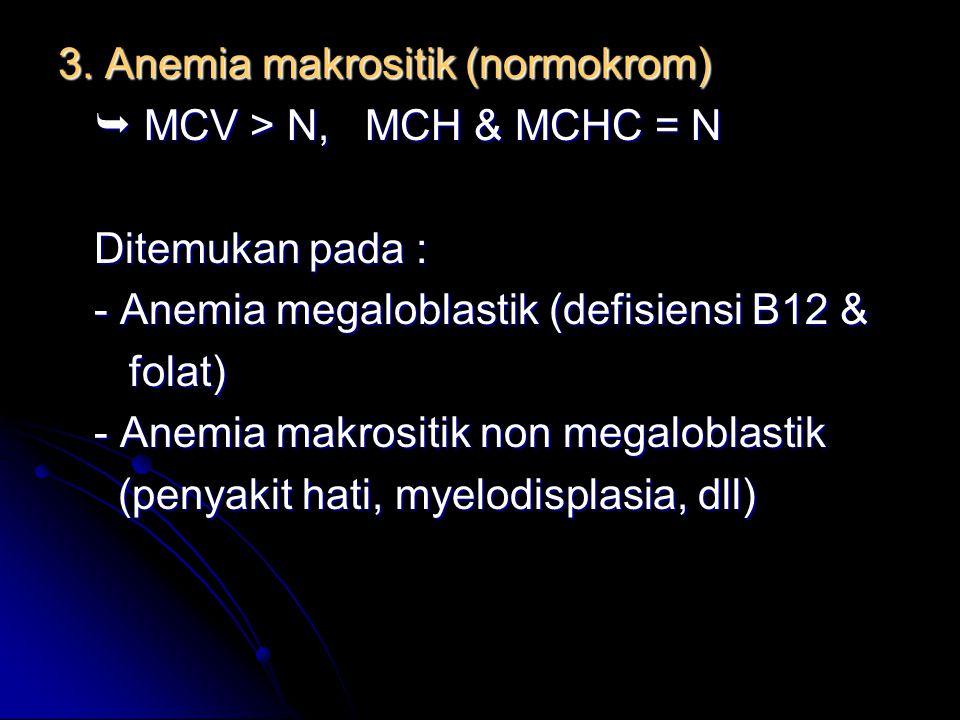 3. Anemia makrositik (normokrom)