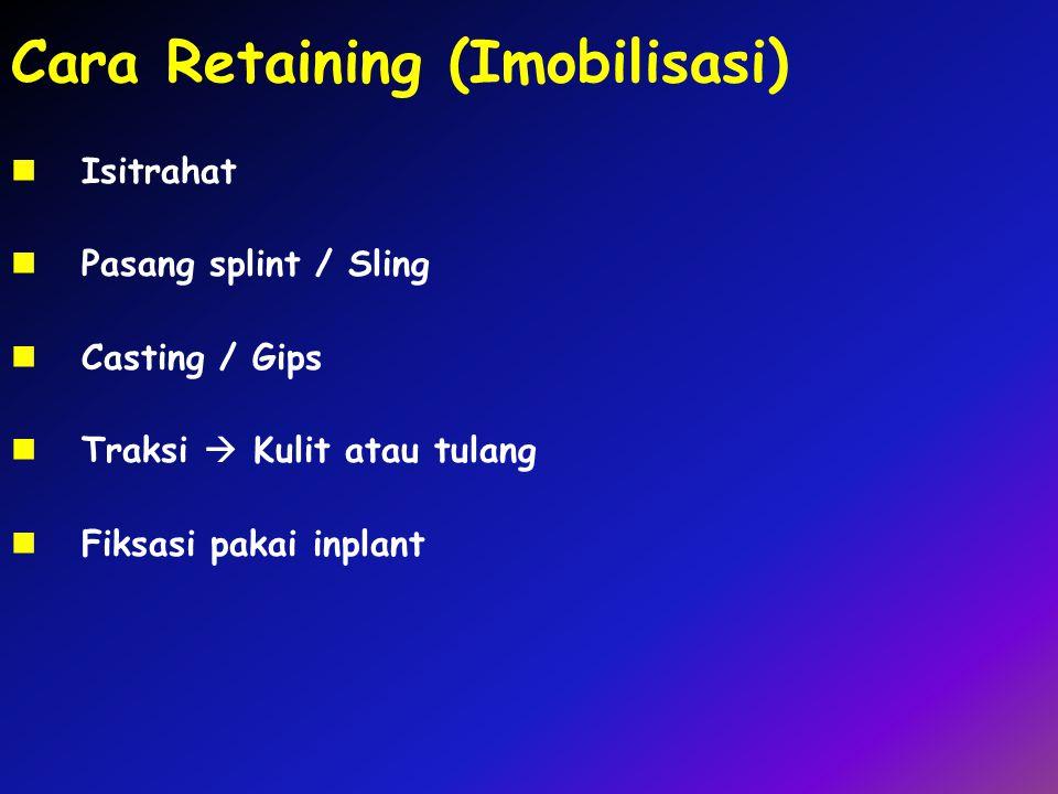 Cara Retaining (Imobilisasi)