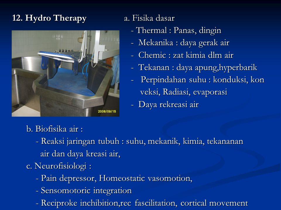 12. Hydro Therapy a. Fisika dasar