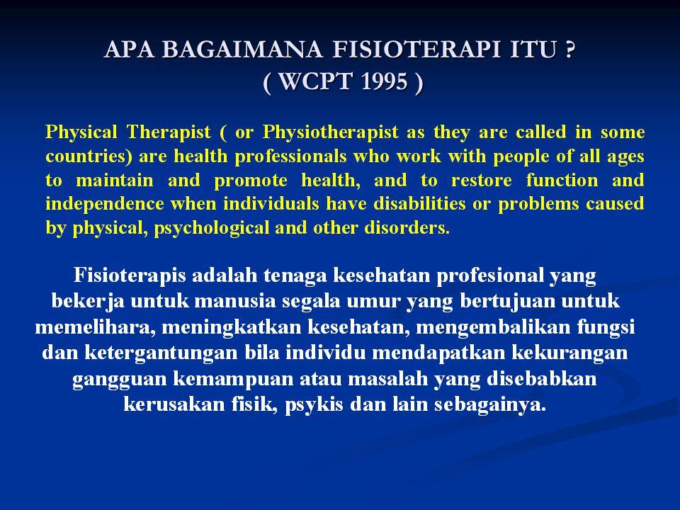 APA BAGAIMANA FISIOTERAPI ITU ( WCPT 1995 )