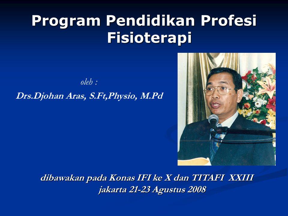 Program Pendidikan Profesi Fisioterapi