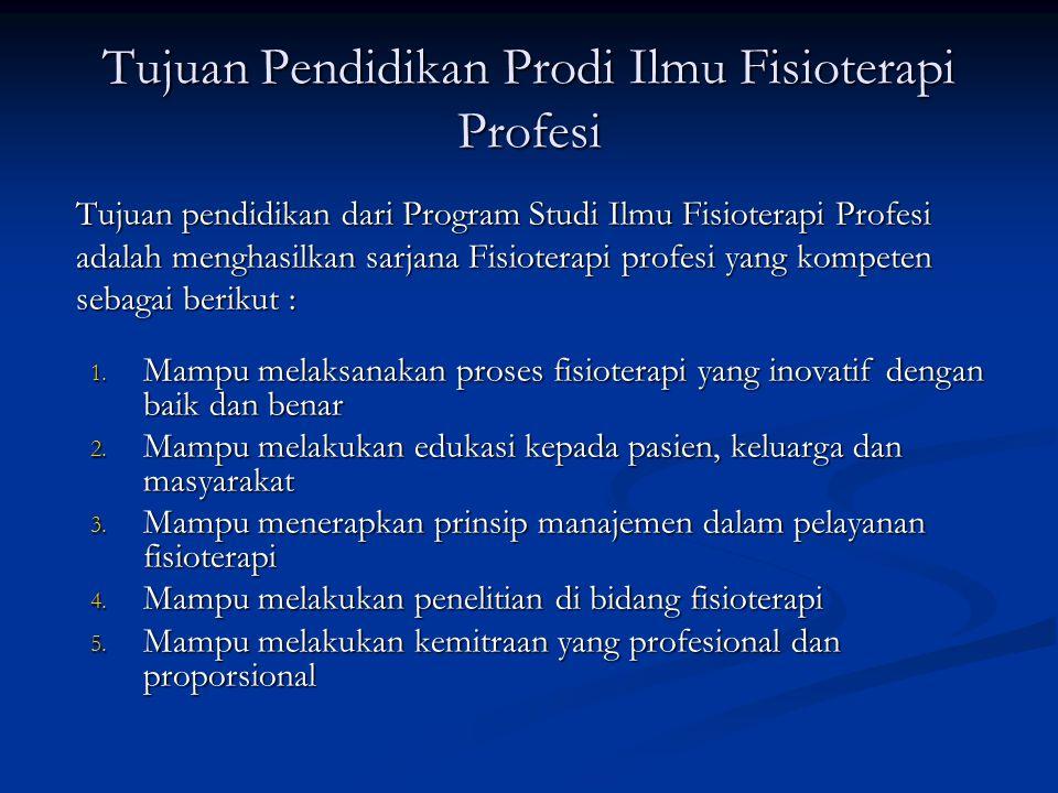 Tujuan Pendidikan Prodi Ilmu Fisioterapi Profesi