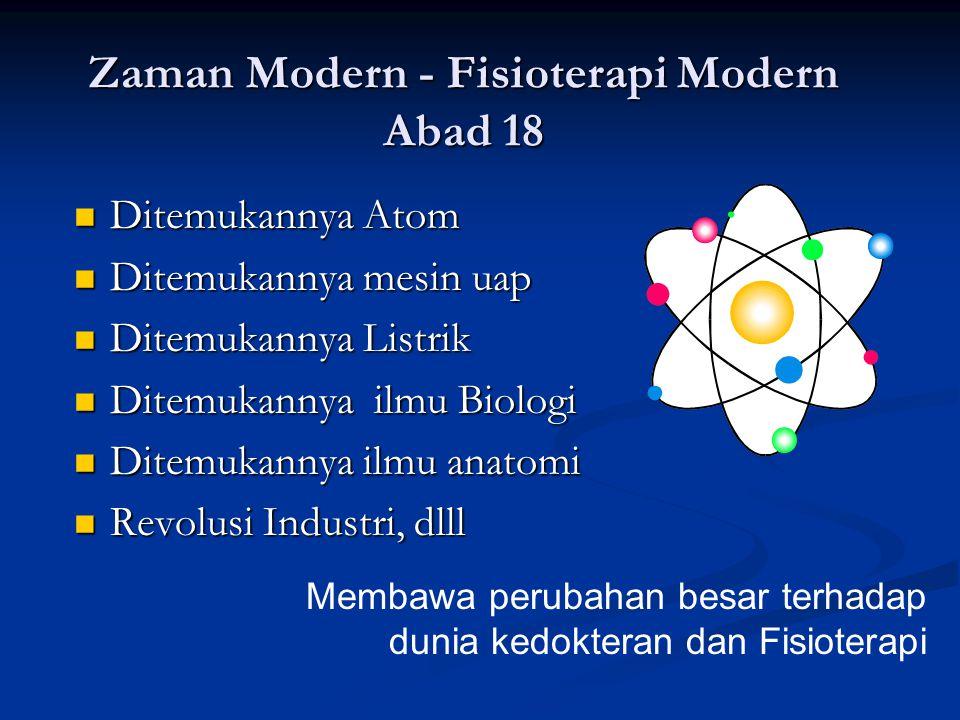 Zaman Modern - Fisioterapi Modern Abad 18