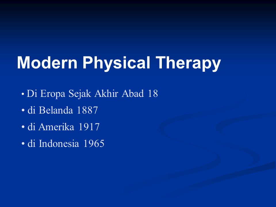 Modern Physical Therapy