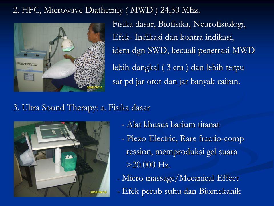 2. HFC, Microwave Diathermy ( MWD ) 24,50 Mhz.