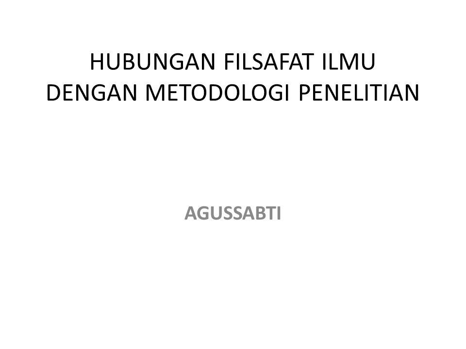 HUBUNGAN FILSAFAT ILMU DENGAN METODOLOGI PENELITIAN