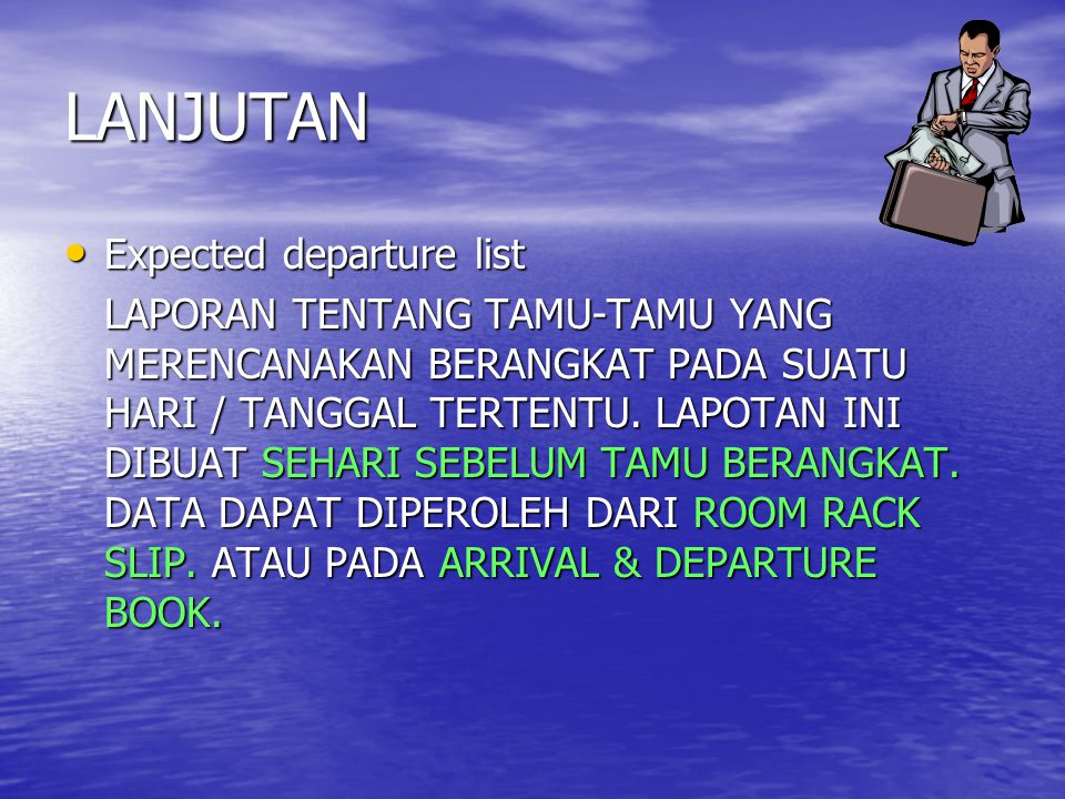 LANJUTAN Expected departure list