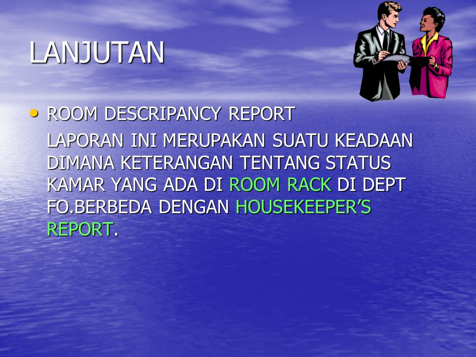 LANJUTAN ROOM DESCRIPANCY REPORT