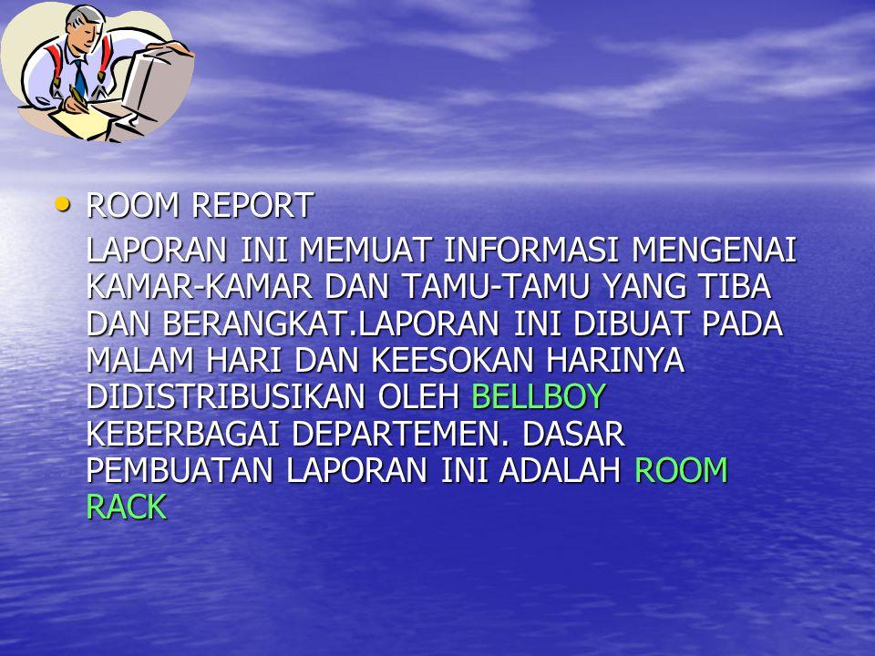 LANJUTAN ROOM REPORT.
